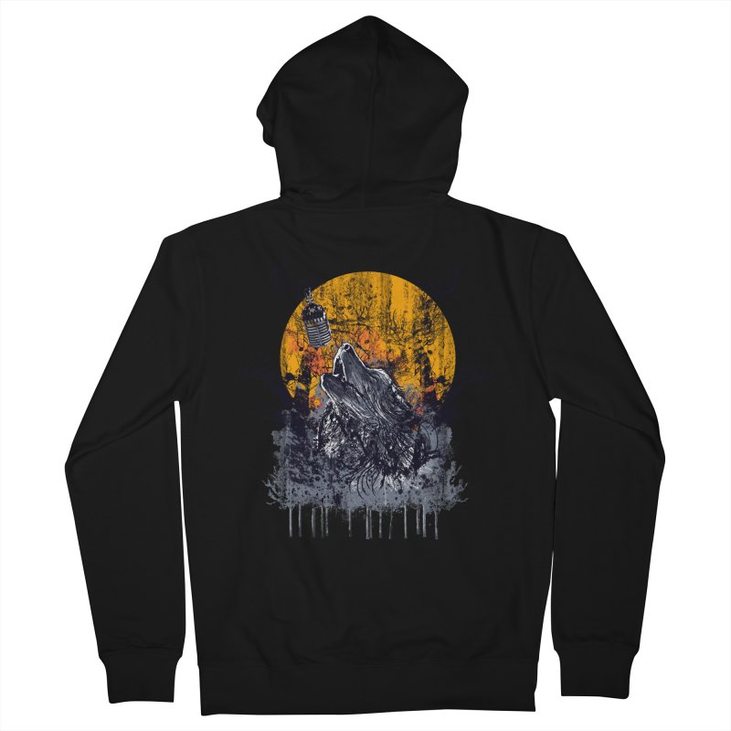 WOLF'S SERENADE Men's Zip-Up Hoody by robbyiodized's Artist Shop