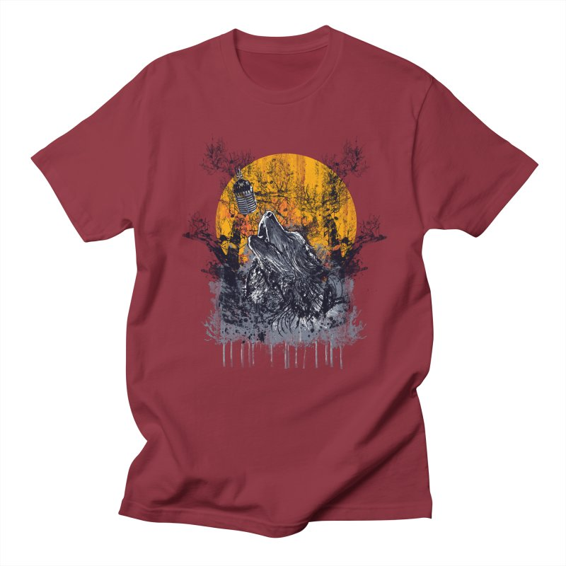 WOLF'S SERENADE Men's Regular T-Shirt by robbyiodized's Artist Shop