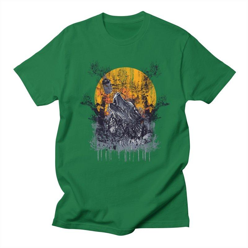WOLF'S SERENADE Men's Regular T-Shirt by robbyiodized's Artist Shop