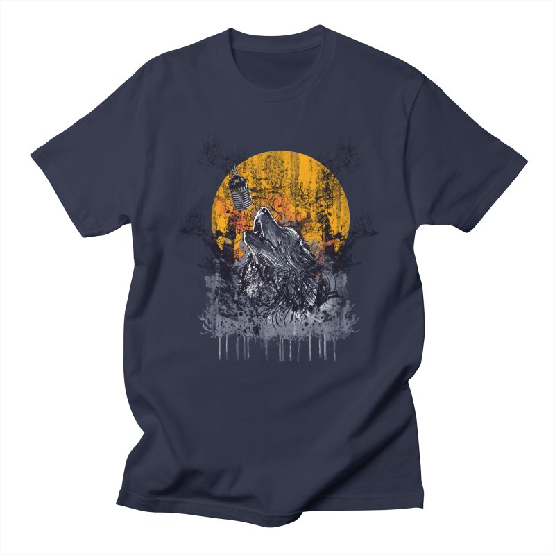 WOLF'S SERENADE Men's T-Shirt by robbyiodized's Artist Shop