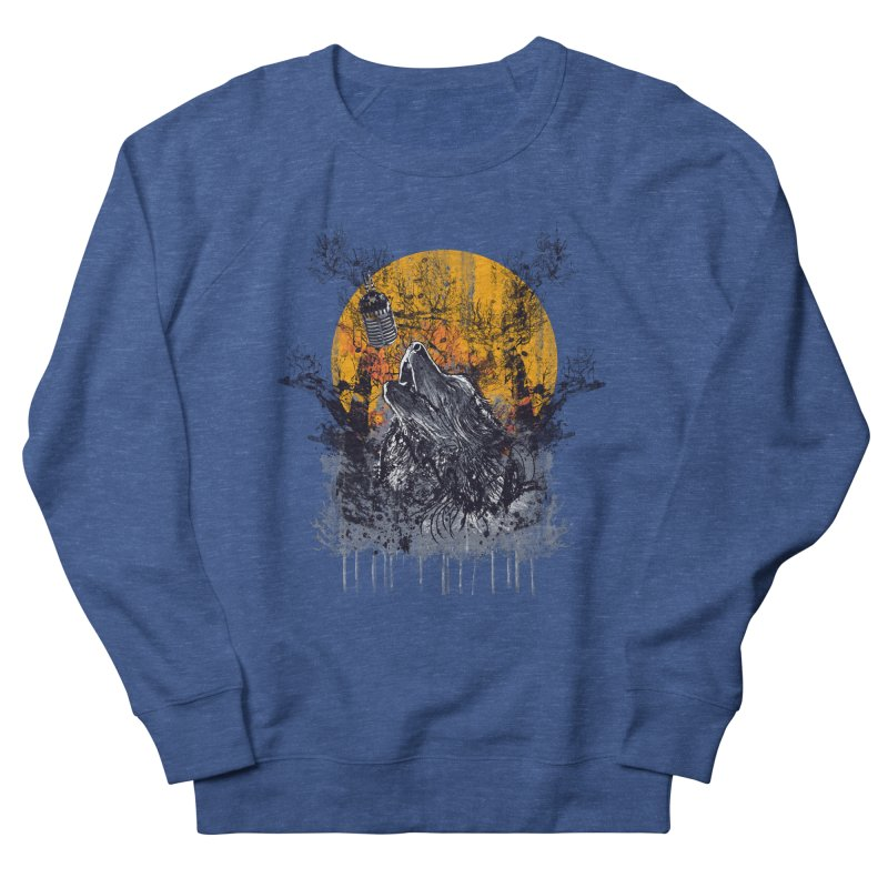 WOLF'S SERENADE Men's French Terry Sweatshirt by robbyiodized's Artist Shop