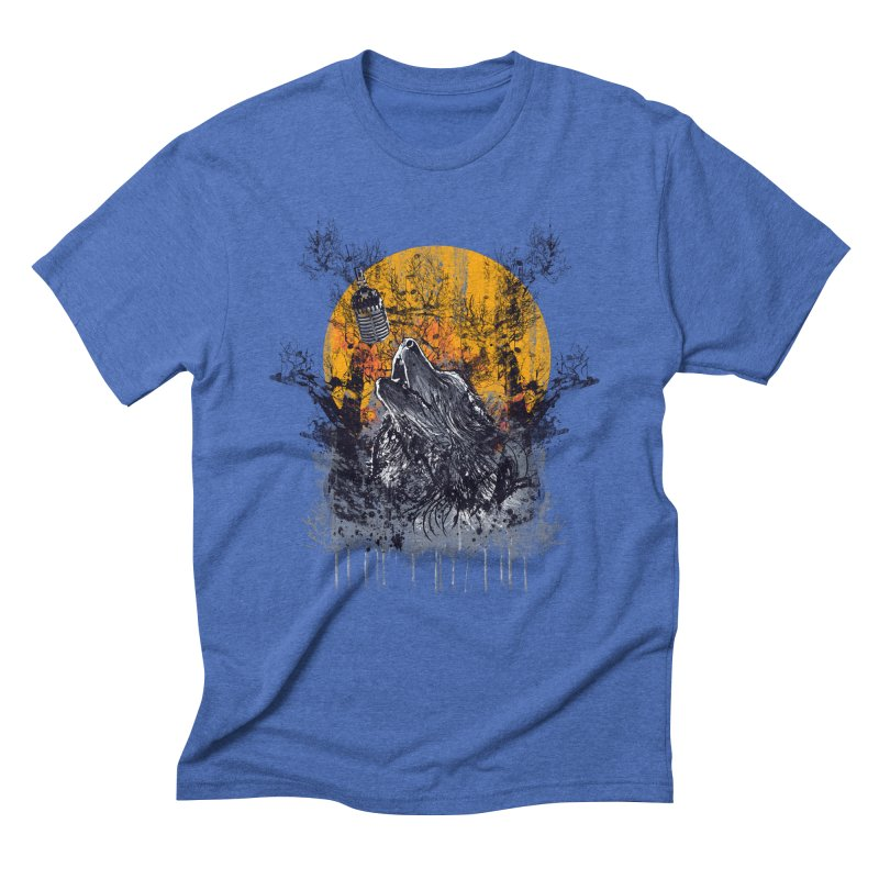 WOLF'S SERENADE Men's Triblend T-Shirt by robbyiodized's Artist Shop