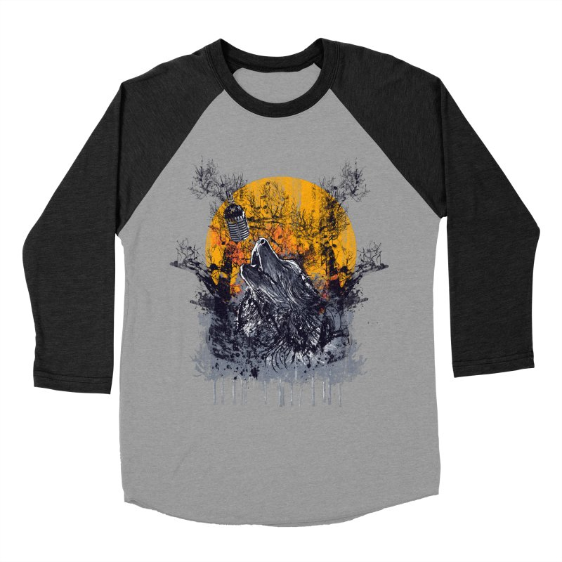 WOLF'S SERENADE Men's Baseball Triblend Longsleeve T-Shirt by robbyiodized's Artist Shop
