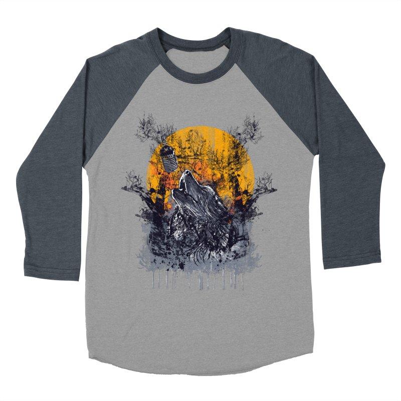 WOLF'S SERENADE Men's Baseball Triblend Longsleeve T-Shirt by robbyiodized's Artist Shop