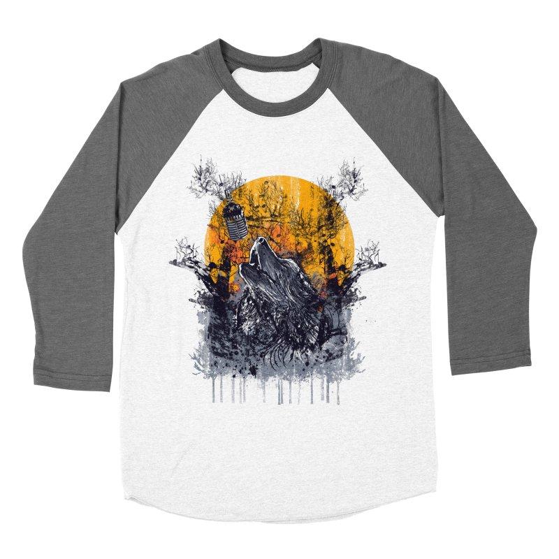 WOLF'S SERENADE Men's Baseball Triblend T-Shirt by robbyiodized's Artist Shop