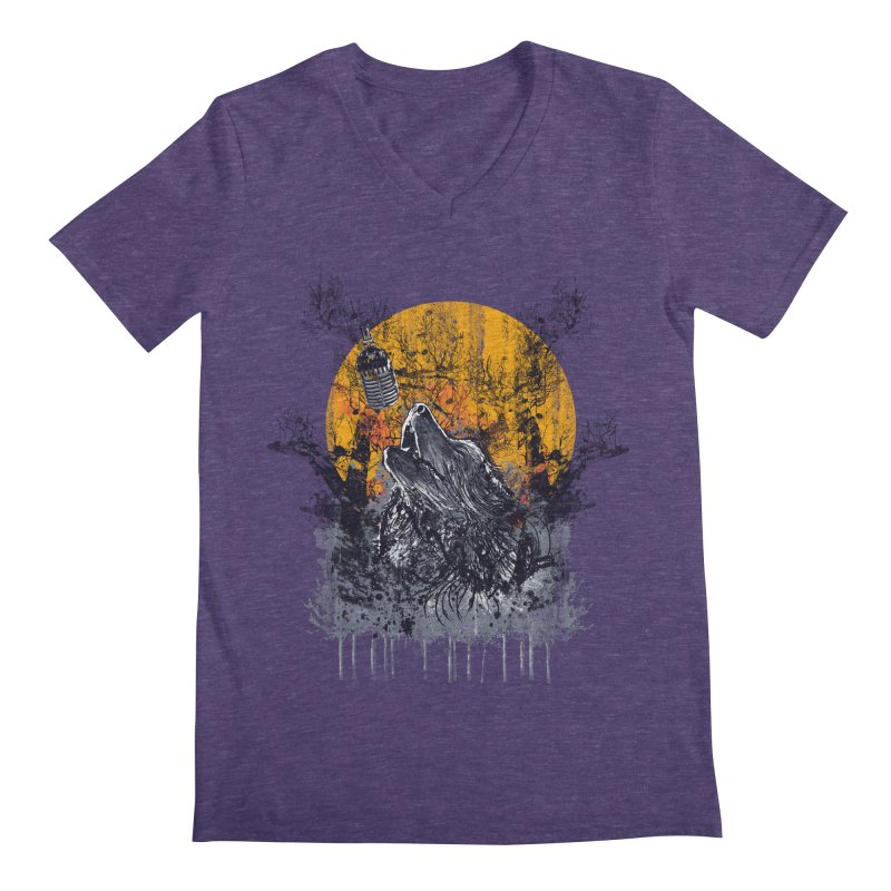 WOLF'S SERENADE Men's V-Neck by robbyiodized's Artist Shop