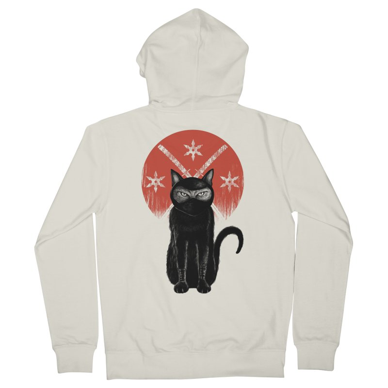 9 LIVES Men's French Terry Zip-Up Hoody by robbyiodized's Artist Shop