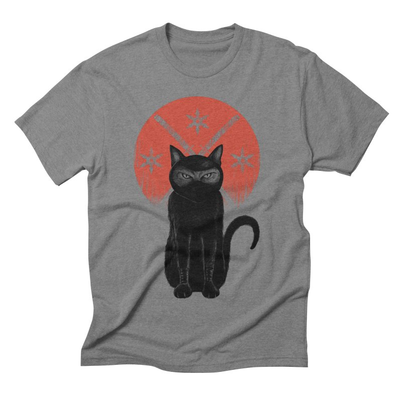 9 LIVES Men's Triblend T-shirt by robbyiodized's Artist Shop