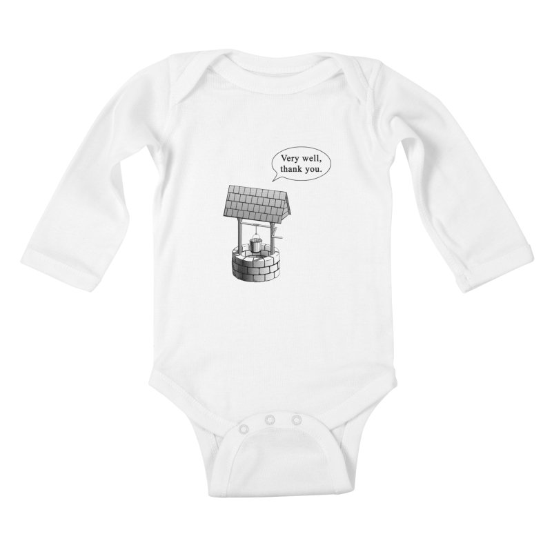 Very Well Kids Baby Longsleeve Bodysuit by Robert Clinton's Artist Shop