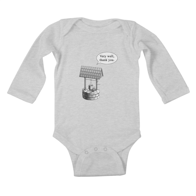 Very Well Kids Baby Longsleeve Bodysuit by Robert Clinton's Artist Shop
