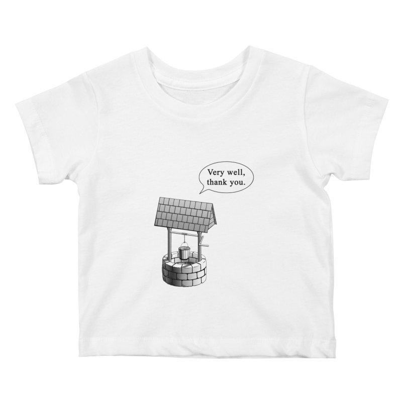 Very Well Kids Baby T-Shirt by Robert Clinton's Artist Shop