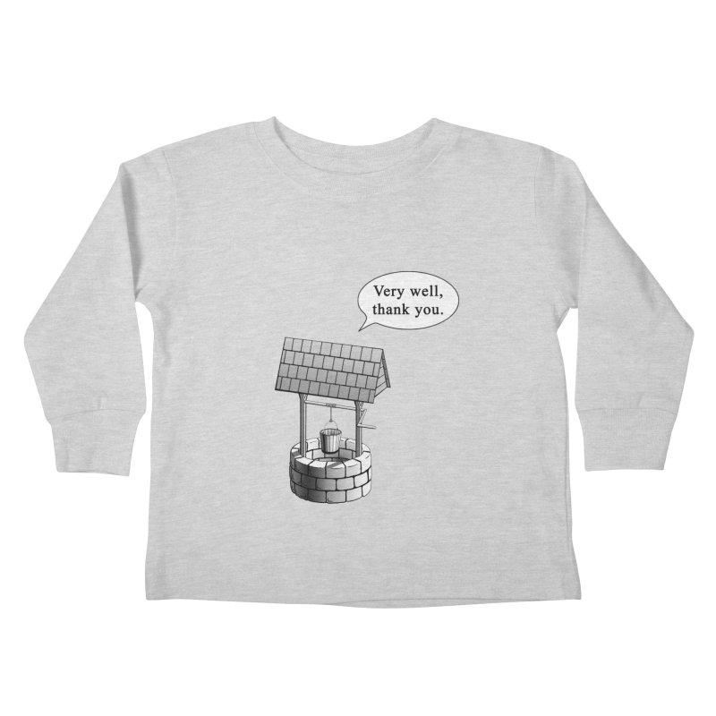 Very Well Kids Toddler Longsleeve T-Shirt by Robert Clinton's Artist Shop