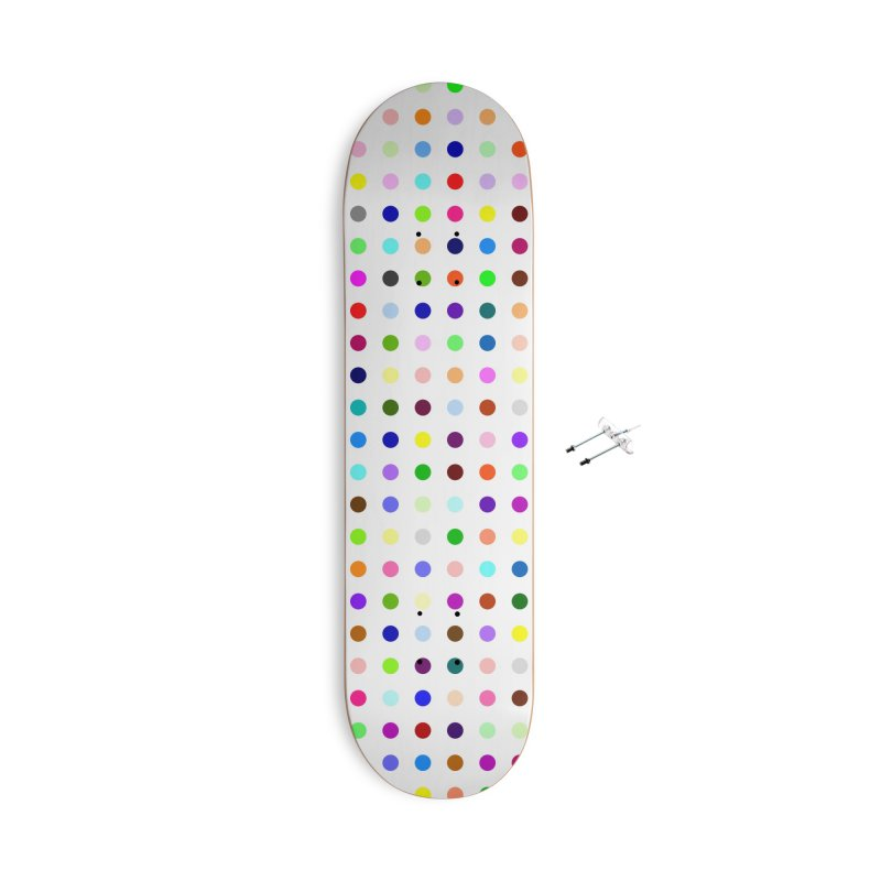 Skateboard White #5 Accessories With Hanging Hardware Skateboard by Robert Hirst Artist Shop