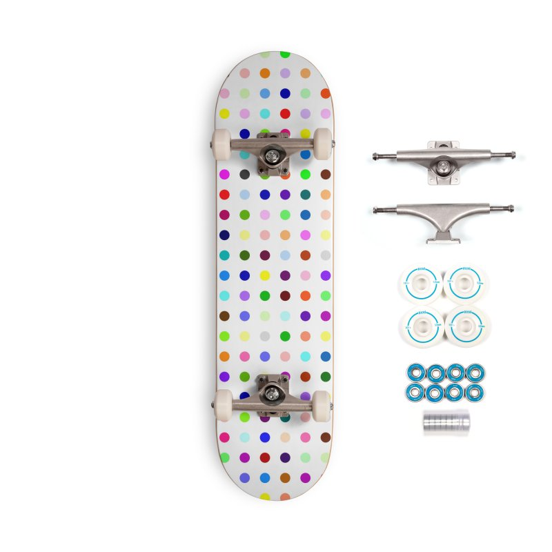 Skateboard White #5 Accessories Complete - Basic Skateboard by Robert Hirst Artist Shop