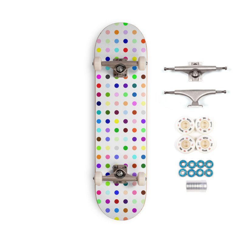 Skateboard White #5 Accessories Complete - Premium Skateboard by Robert Hirst Artist Shop
