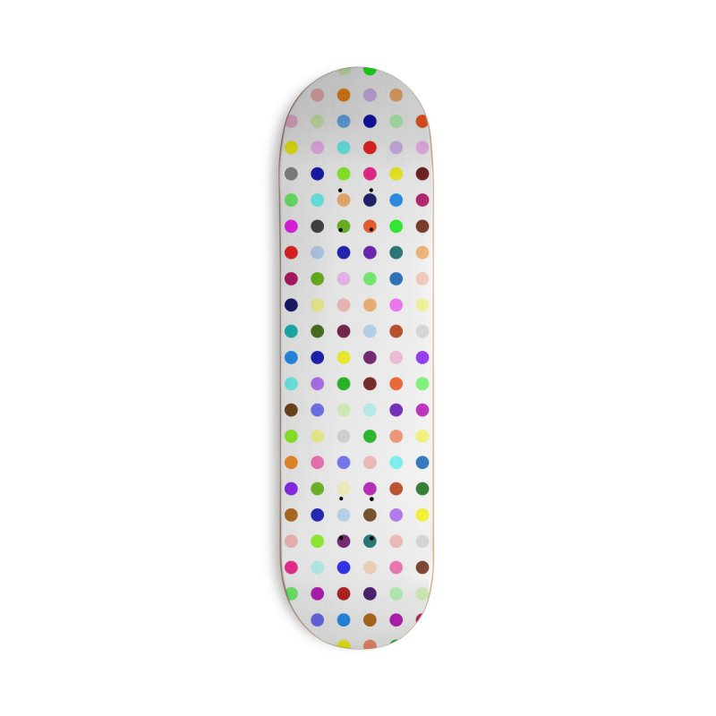 Skateboard White #5 Accessories Deck Only Skateboard by Robert Hirst Artist Shop