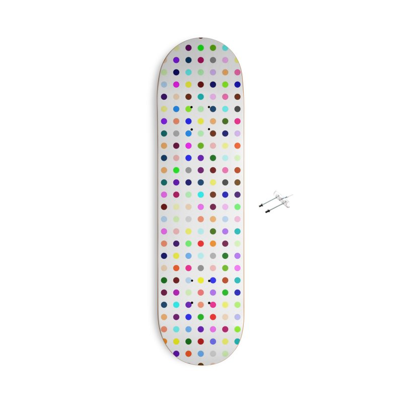 Skateboard White #6 Accessories With Hanging Hardware Skateboard by Robert Hirst Artist Shop