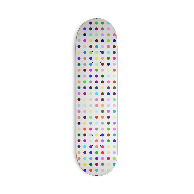 Skateboard White #6 Accessories Deck Only Skateboard by Robert Hirst Artist Shop