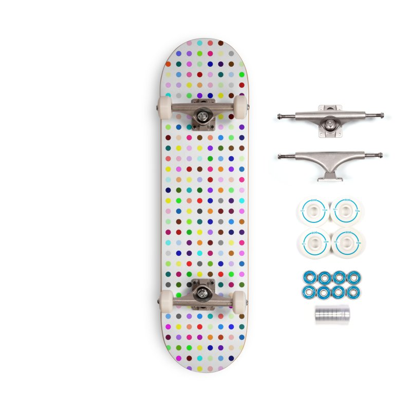 Skateboard White #7 Accessories Complete - Basic Skateboard by Robert Hirst Artist Shop
