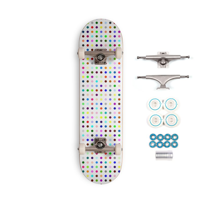 Skateboard White #8 Accessories Complete - Basic Skateboard by Robert Hirst Artist Shop