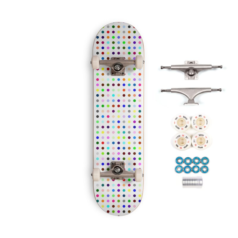 Skateboard White #8 Accessories Complete - Premium Skateboard by Robert Hirst Artist Shop