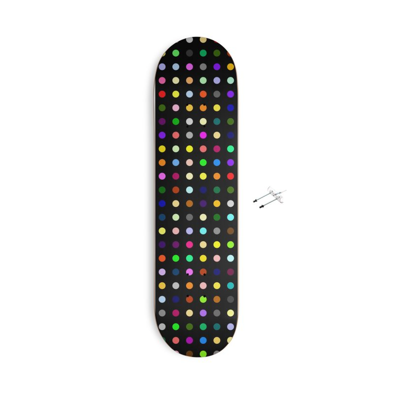 Sakteboard Black #5 Accessories With Hanging Hardware Skateboard by Robert Hirst Artist Shop