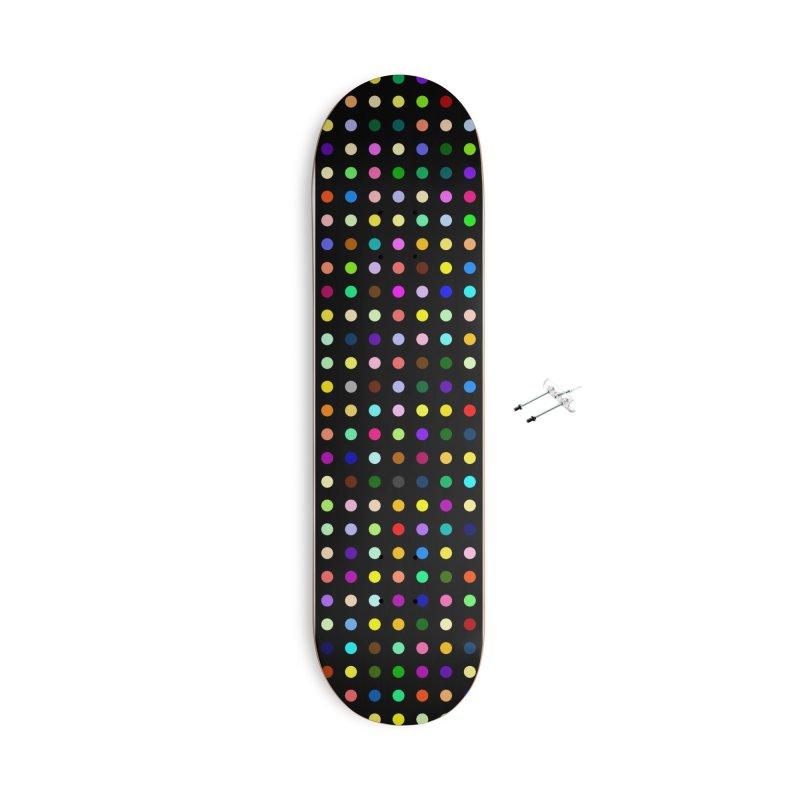 Sakteboard Black #6 Accessories With Hanging Hardware Skateboard by Robert Hirst Artist Shop