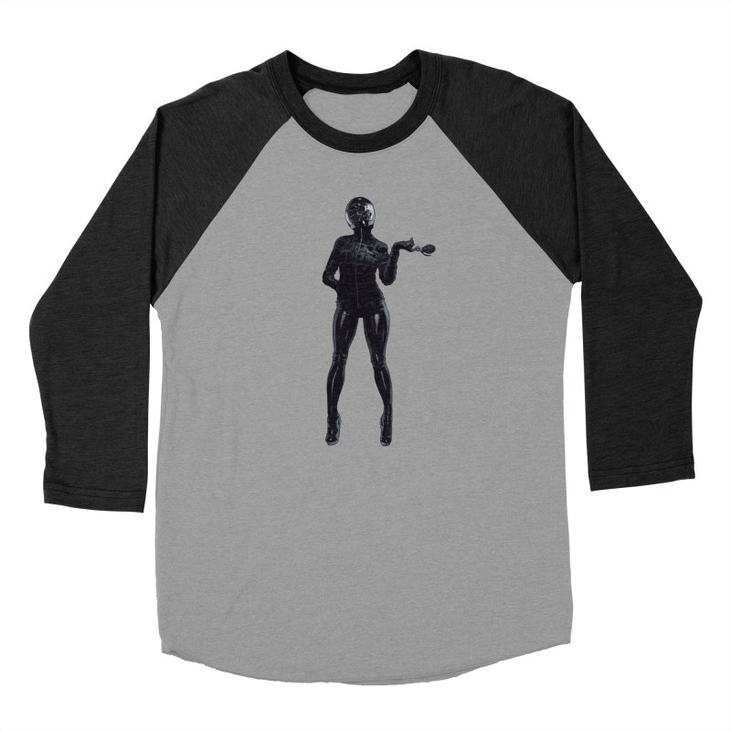 Blackest Biker Men's Baseball Triblend Longsleeve T-Shirt by Robert Sammelin
