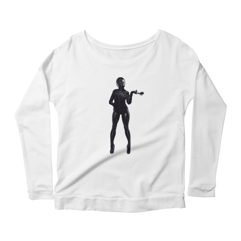Blackest Biker Women's Scoop Neck Longsleeve T-Shirt by Robert Sammelin