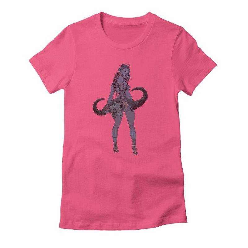 Buffalo Skull Women's T-Shirt by Robert Sammelin