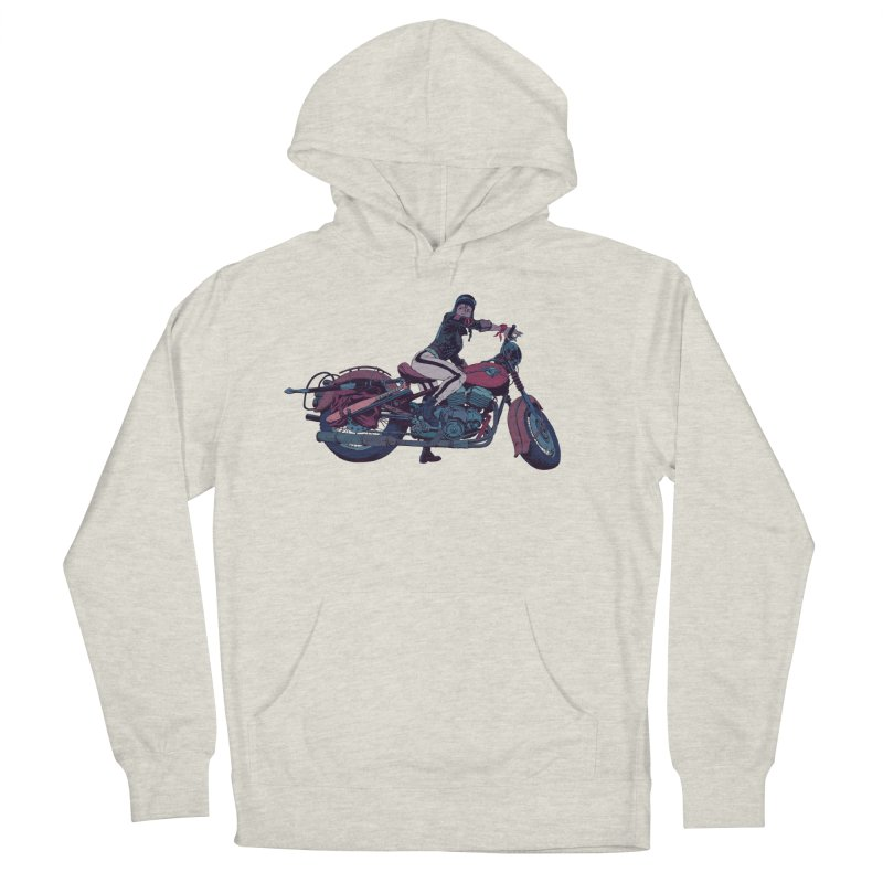 Cafe Racer Women's French Terry Pullover Hoody by Robert Sammelin