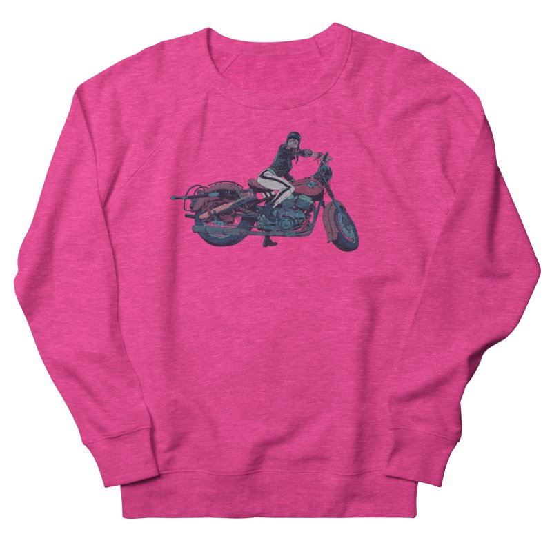 Cafe Racer Women's French Terry Sweatshirt by Robert Sammelin