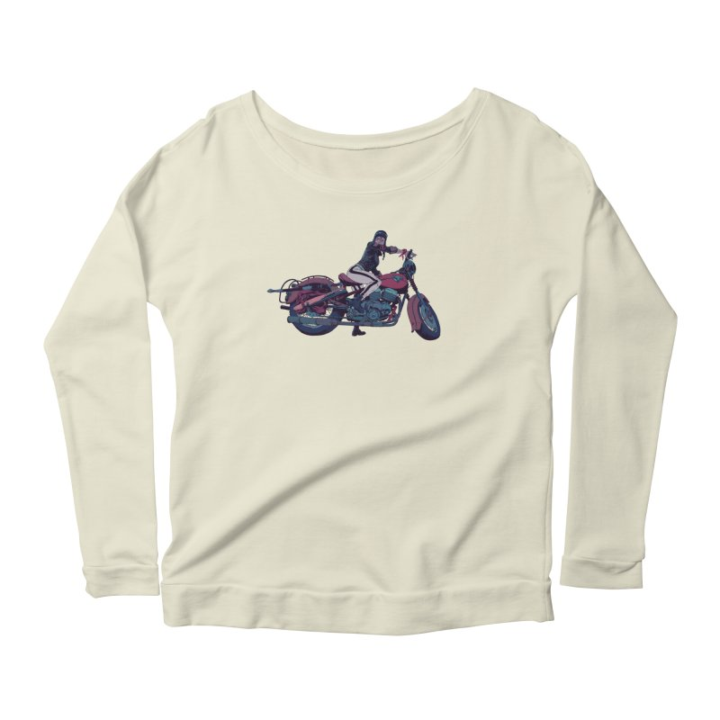 Cafe Racer Women's Scoop Neck Longsleeve T-Shirt by Robert Sammelin