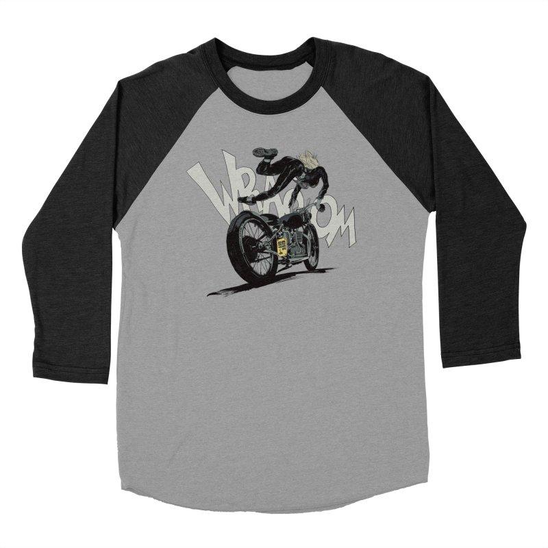 Motorgirl Men's Baseball Triblend Longsleeve T-Shirt by Robert Sammelin