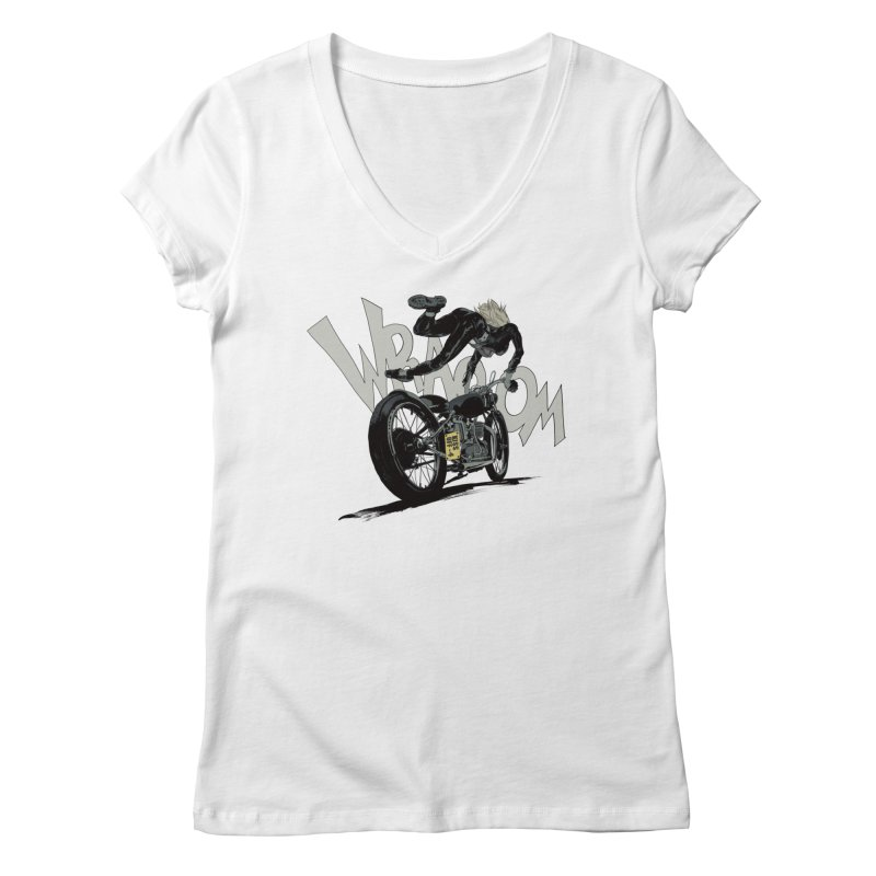 Motorgirl Women's V-Neck by Robert Sammelin