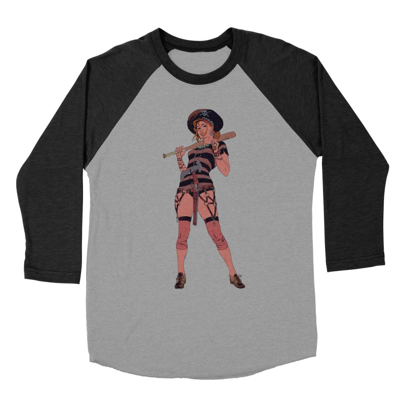 Pirate Jenny Men's Baseball Triblend Longsleeve T-Shirt by Robert Sammelin