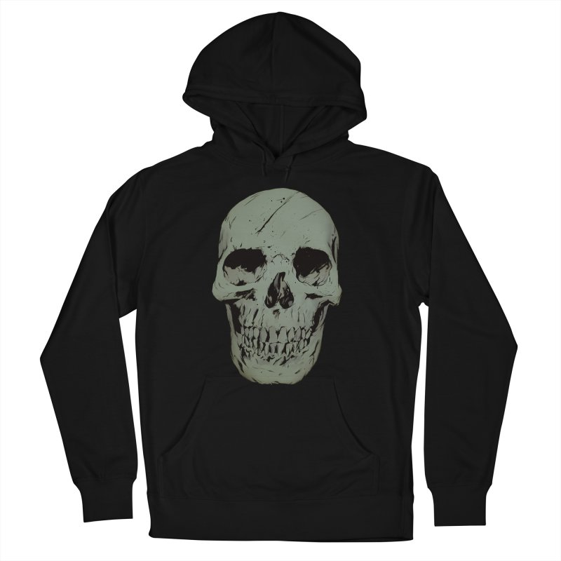 Skull Women's French Terry Pullover Hoody by Robert Sammelin