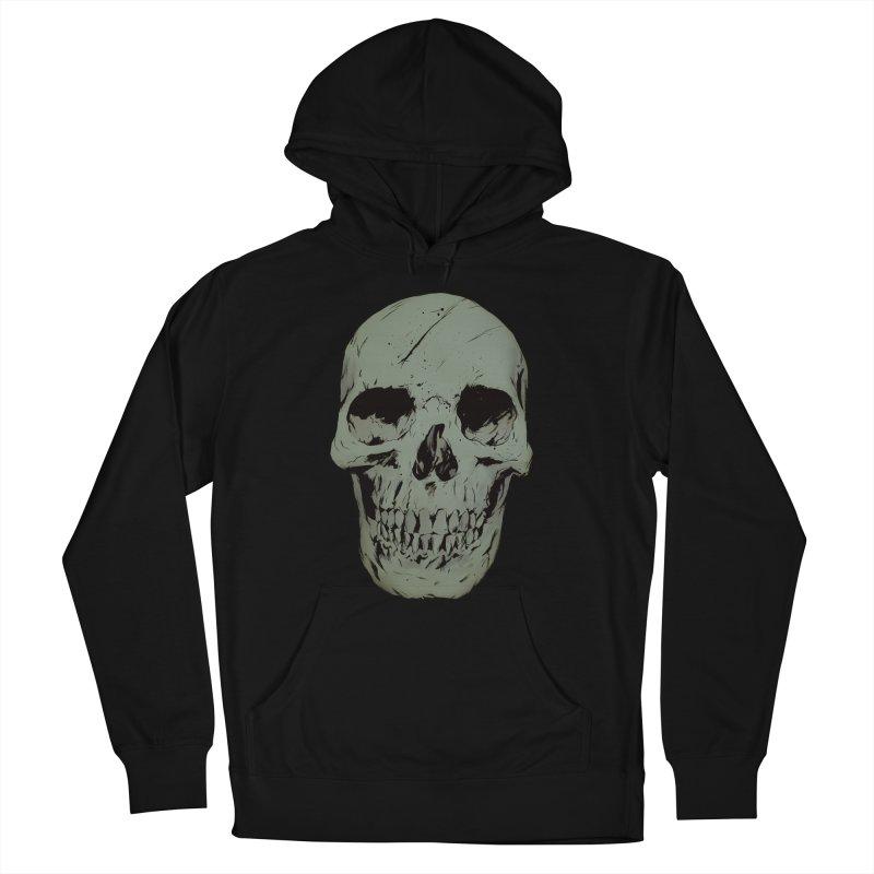 Skull Men's French Terry Pullover Hoody by Robert Sammelin