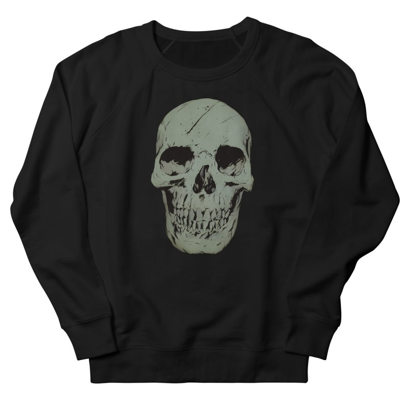 Skull Women's French Terry Sweatshirt by Robert Sammelin
