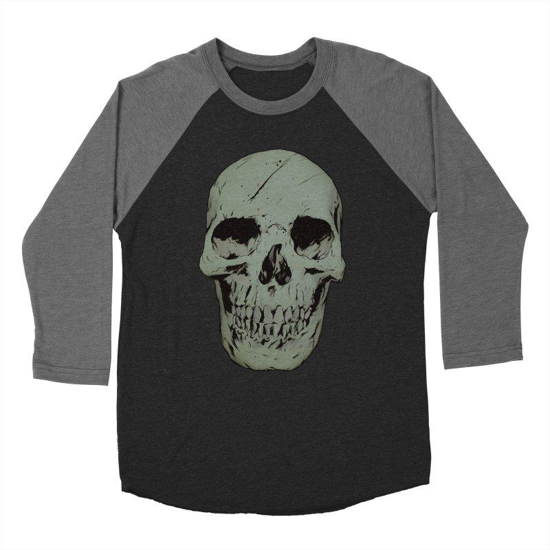 Skull Men's Baseball Triblend Longsleeve T-Shirt by Robert Sammelin