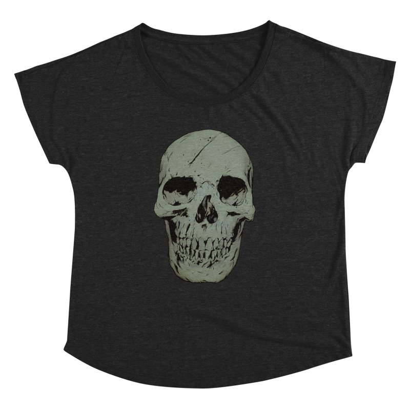 Skull Women's Dolman Scoop Neck by Robert Sammelin