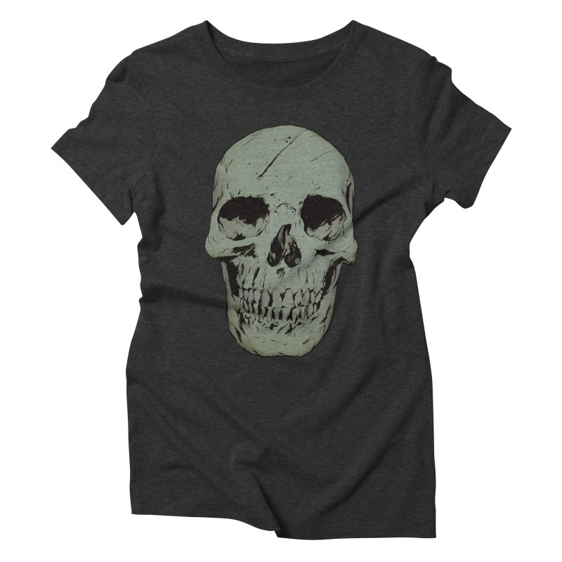 Skull Women's Triblend T-Shirt by Robert Sammelin