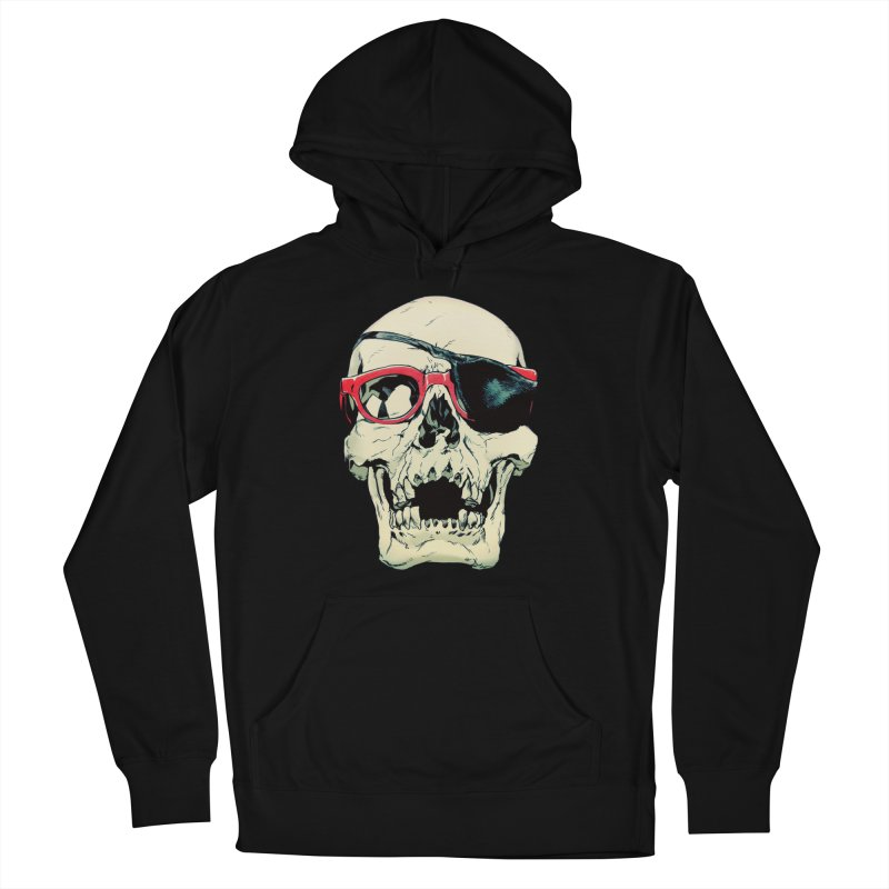 Skull Patch Women's French Terry Pullover Hoody by Robert Sammelin