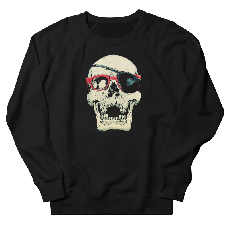 Skull Patch Women's French Terry Sweatshirt by Robert Sammelin