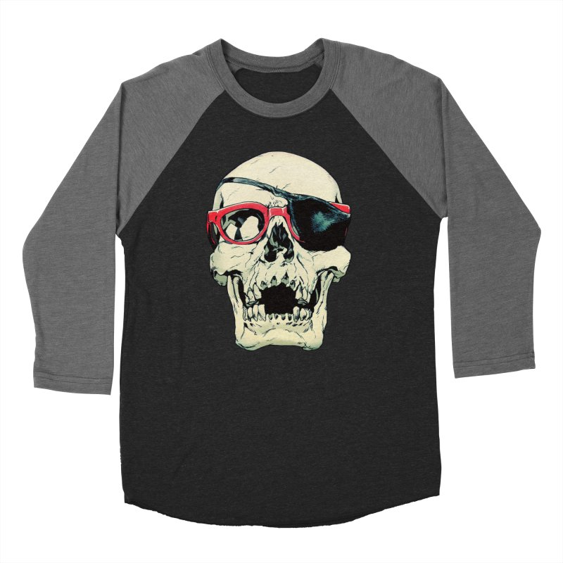 Skull Patch Men's Baseball Triblend Longsleeve T-Shirt by Robert Sammelin