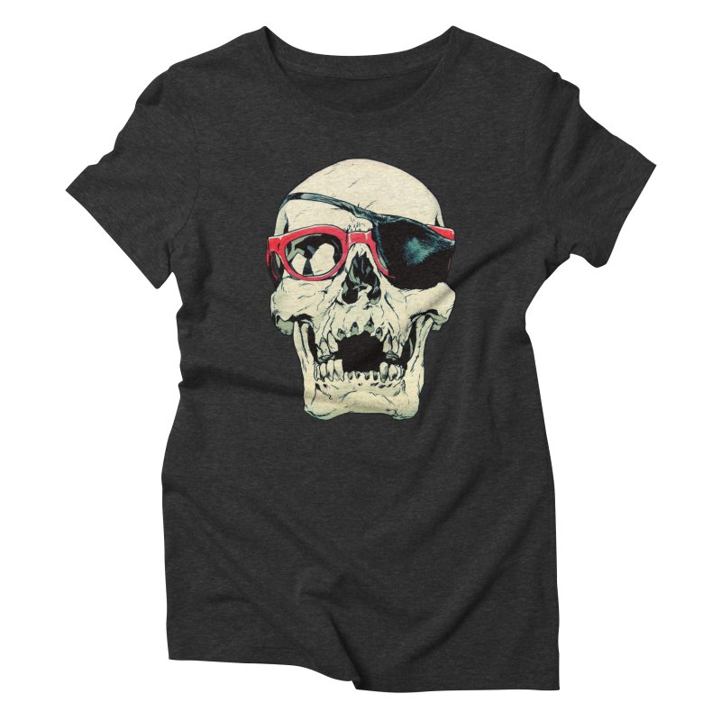 Skull Patch Women's Triblend T-Shirt by Robert Sammelin