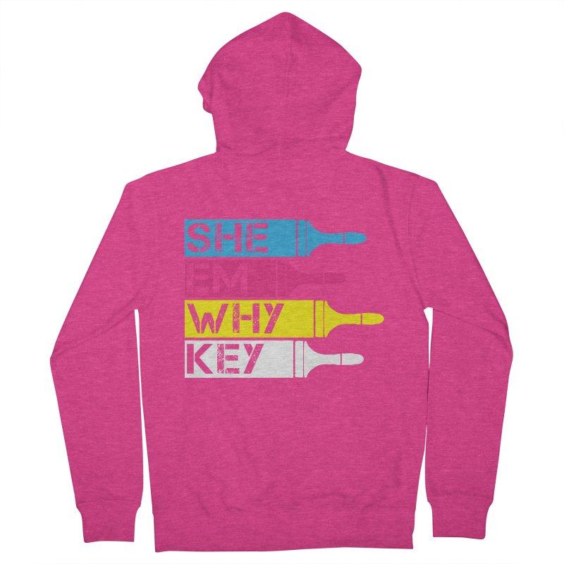 CMYK Women's Zip-Up Hoody by robikucluk's Artist Shop