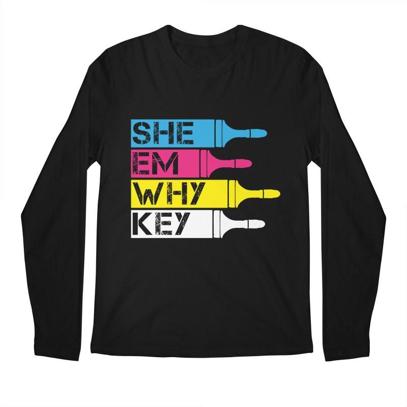 CMYK Men's Longsleeve T-Shirt by robikucluk's Artist Shop