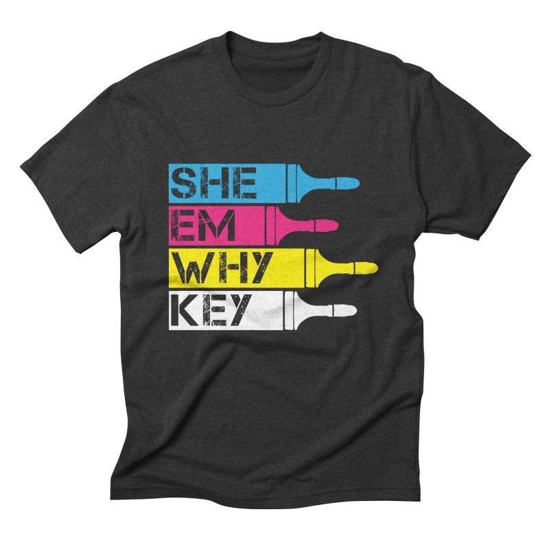 CMYK Men's Triblend T-Shirt by robikucluk's Artist Shop