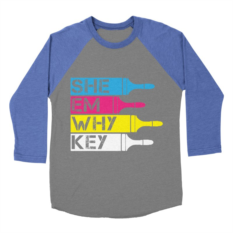CMYK Men's Baseball Triblend T-Shirt by robikucluk's Artist Shop